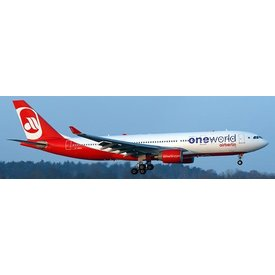 JCWINGS A330-200 AIR BERLIN One World D-ABXA 1:400 with Stand