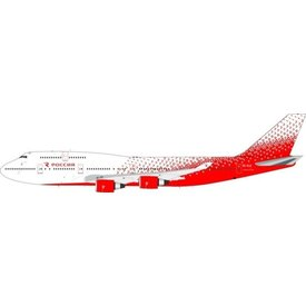 JFOX B747-400 Rossiya Russian Airlines NC16 EI-XLE 1:200 with stand