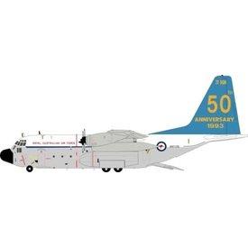 JFOX C130E Hercules RAAF Australia 50th anniversary A97-178 1:200 with stand