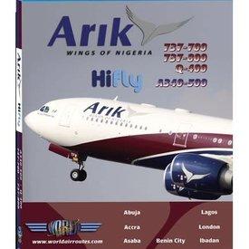 justplanes DVD Arik Air B737-700, B737-800, Q400, A340-500  **o/p**