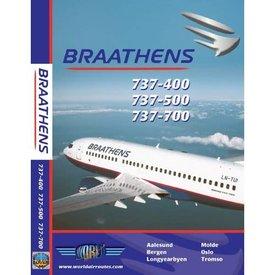 justplanes DVD Braathens B737-400, B737-500, B737-700 **O/P*