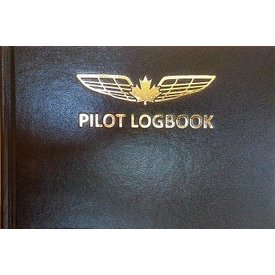 "Logbook Medium Pilot Logbook Black 9 1/4"" x 6 1/4"""