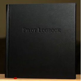 Leather Bound Logbook Black