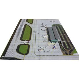 "Gemini Jets AIRPORT MAT AIRSIDE GROUNDSIDE 1:400/1:200 (39 1/4"" x 54 1/2"")"