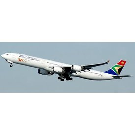 JCWINGS A340-600 South African Airways Beijing 2012 ZS-SNG 1:200 with stand