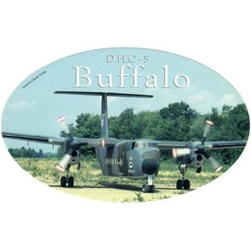 deHavilland DHC5 Buffalo Oval Camouflage CAF 3 3/4'' X 6'' Sticker