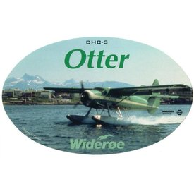 deHavilland DHC3 Otter Wideroe Oval 3 3/4'' X 6'' Sticker