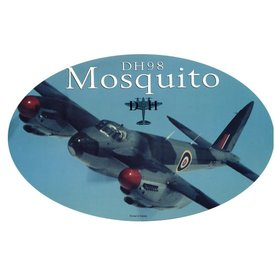 deHavilland Dh98 Mosquito Oval Banking 3 3/4'' X 6'' Sticker