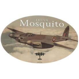 deHavilland Dh98 Mosquito Oval Sepia 3 3/4'' X 6'' Sticker