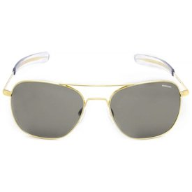 Randolph Engineering Aviator 23k Gold Gray Glass Bayonet 52MM Sunglasses **DISC