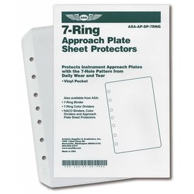 ASA - Aviation Supplies & Academics Vinyl Sheet Protector Pockets: 7-Ring (Jeppesen) X10