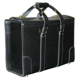 avworld.ca Leather Flight Case Small Double Strap Handle