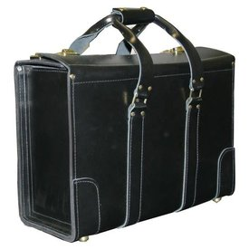 avworld.ca Leather Flight Case Small Double Strap