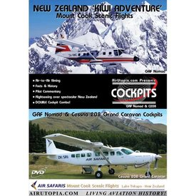 Aviation Data Corp. UTOPIA DVD New Zealand 'Kiwi Adventure' Cessna 208/NOMAD #52
