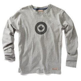 Red Canoe Brands Rcaf Long Sleeve T-Shirt, Grey