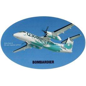 Bombardier Q300 Dash8 Bombardier House Colours Oval 3 3/4'' X 6'' Sticker