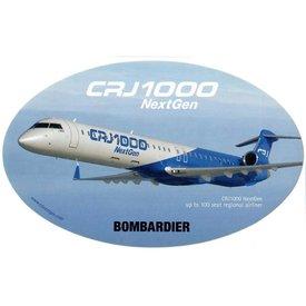Bombardier CRJ1000 Nextgen Bombardier Oval 3 3/4'' X 6'' Sticker