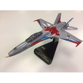 Flightline CF18 Hornet 425 Squadron Alouettes 3 Wing 60 years Mahogany w/stand
