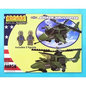 Daron WWT Attack Helicopter 140 Piece Construction Toy