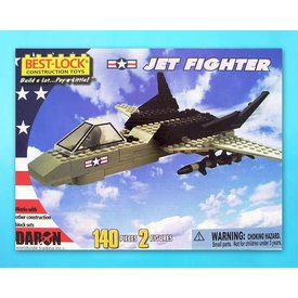 Daron WWT Jet Fighter 140 Piece Construction Toy
