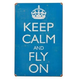 Sporty's Keep Calm and Fly On Metal Sign
