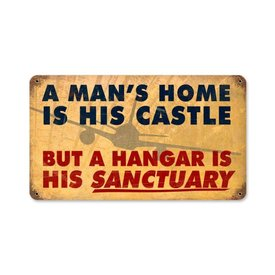 A Man's Home Is His Castle Metal Sign