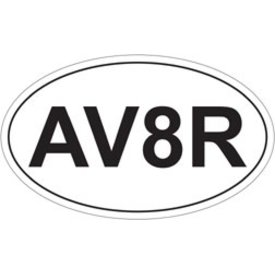 AV8R Oval Sticker