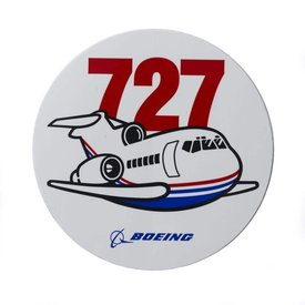 The Boeing Store 727 Pudgy Plane Sticker
