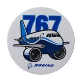 The Boeing Store 767 Pudgy Plane Sticker
