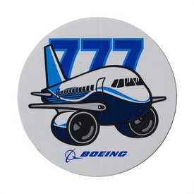 The Boeing Store 777 Pudgy Plane Sticker