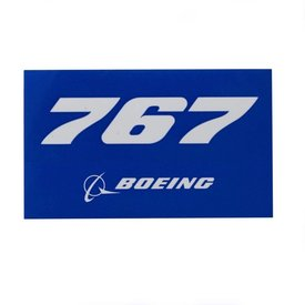 Boeing Store 767 Blue Rectangle Sticker
