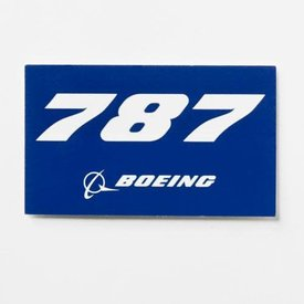The Boeing Store 787 Blue Rectangle Sticker