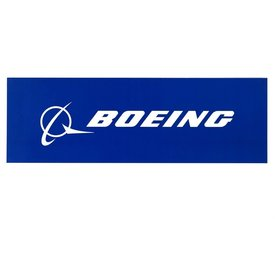 The Boeing Store Boeing Signature Blue 8''X2.5'' Sticker