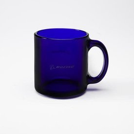 The Boeing Store Boeing Blue Glass Mug