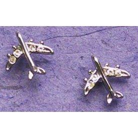Silver Crystal Jet Earrings