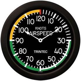 """Trintec Industries 14"""" Modern Airspeed Clock"""