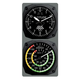 Trintec Industries Classic Altimeter/Airspeed Clock & Thermometer Set