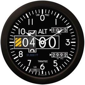 "Trintec Industries 14"" Modern Altimeter Clock"