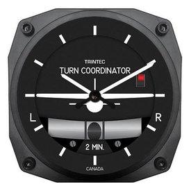 Trintec Industries Modern Turn and Bank Clock