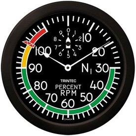 "Trintec Industries 14"" Modern Percent RPM Clock"