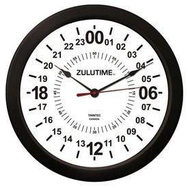 """Trintec Industries 14"""" ZULUTIME™ 24-Hour Wall Clock"""