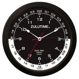 "Trintec Industries 14"" ZULUTIME Clock (Black/White Dial)"