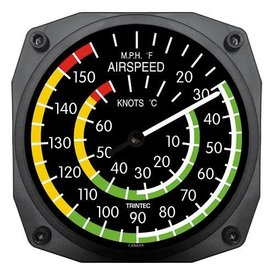 "Trintec Industries 6"" Airspeed Instrument Style Thermometer"