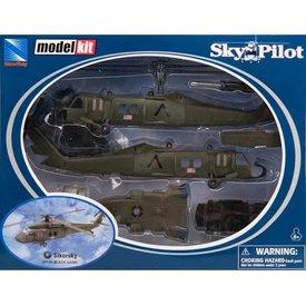NewRay UH60 Blackhawk US Army 1:60 Kit Prepainted Sky Pilot