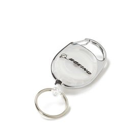 The Boeing Store Badge Holder Carabiner Boeing Retro White
