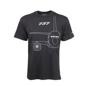 The Boeing Store 737 Midnight Silver T-Shirt