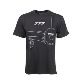 The Boeing Store 777 Midnight Silver T-Shirt