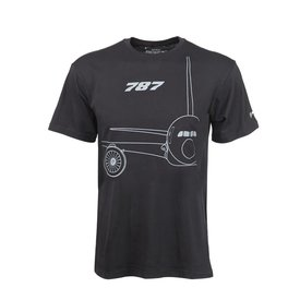 The Boeing Store 787 Midnight Silver T-Shirt