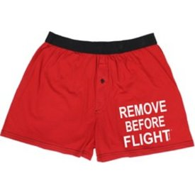 Boxer Shorts Remove Before Flight