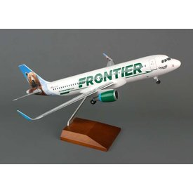 Skymarks Supreme A320S Frontier Grizwald the Bear Sharklets 1:100 Supreme with wooden stand + gear